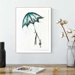 Grafika 30x40 cm wykonana ręcznie, plakat, abstrakcja, elegancki