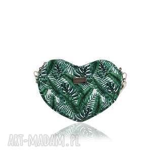 unikalny prezent, torebka lovka 1154, serce, liscie, mała, lato