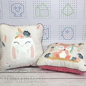 dwie poduszki bohemian friends 46x46 (dekoracyjne, personalizowane haft, dziewczynki)