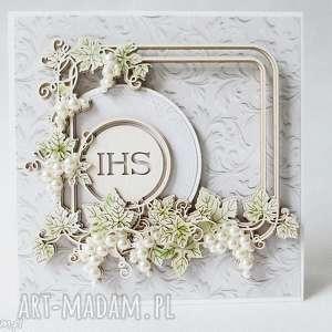 handmade scrapbooking kartki pierwsza komunia - 10 zaproszeń z personalizacją