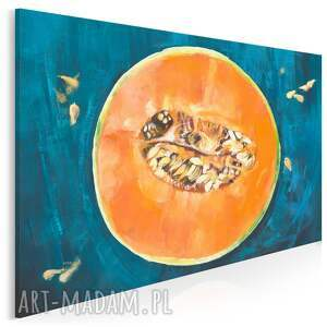 obraz na płótnie - melon pestki owoc kuchnia 120x80 cm (700401)