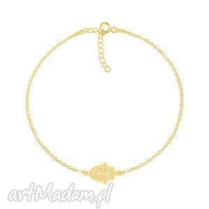 celebrate - fatima connector - bracelet g - złote, rączka, celebrytka
