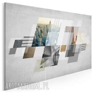 Obraz na płótnie - miasto abstrakcja 120x80 cm 24401 vaku dsgn