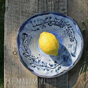ceramika talerz, patera polne kwiaty, na owoce, talerz dekoracyjny, misa