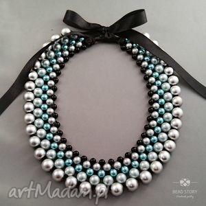 naszyjniki emma, kolia, naszyjnik, klasyczna, elegancka, perły