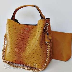 torba w miodowym kolorze, torba, torebka, ekoskóra na ramię torebki
