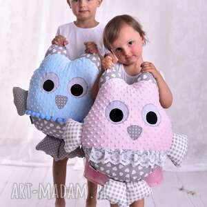 Poduszka dziecięca sowa maskotki ateliermalegodesignu dla dzieci