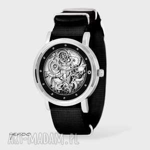 Prezent Zegarek, bransoletka - Steampunk, unisex czarny, nato, zegarek,