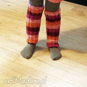 getry ocieplacze nogaweczki, getry, ocieplacze, nogawki, zimowe, wesołe, paski