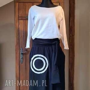 sukienki sukienka white black, maxi, asymetryczna, boho, etno