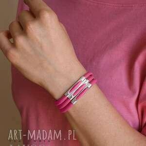 autorskie bransoletki bracelet in pink