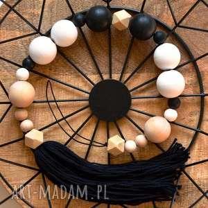 Girlanda drewniana, girlanda, łańcuszek, drewno, makrama