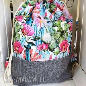 worek plecak kaktusy, worek, plecak, spacery, zakupy, zajęcia, dodatkowe