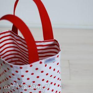 Marina czerwono-biała, grochy, paski, kropki, marine, śniadanie, lunch