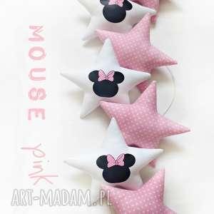 MOUSE pink - girlanda, gwiazdki, mouse, myszka