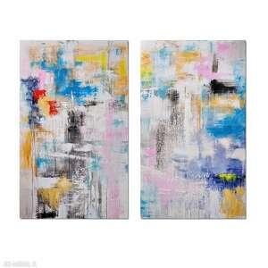 Hybryd s, abstrakcja, nowoczesny obraz ręcznie malowany