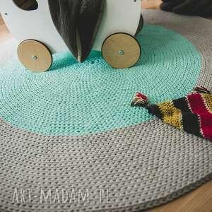 dywan ring ze sznurka, okrągły, sznurek, na szydełku, bawełniany, pokój dziecka