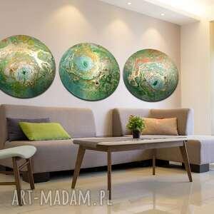 tryptyk księżycowy 25, planeta, księżyc, tryptyk, tondo, alexandra13art