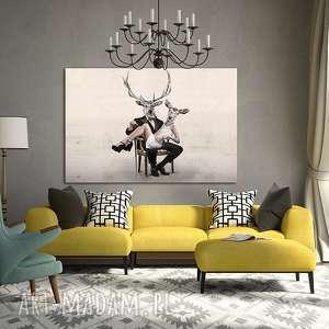 obraz na płótnie - 120x80cm portret malżeński wysyłka w 24h 02185, obraz, grafika