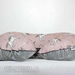 hand-made pokoik dziecka poszewka na poduszkę rogal boppy jednorożce
