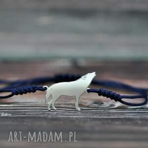 wilk - bransoletka/ srebro pr 925, bransoletka z wilkiem, wyjący