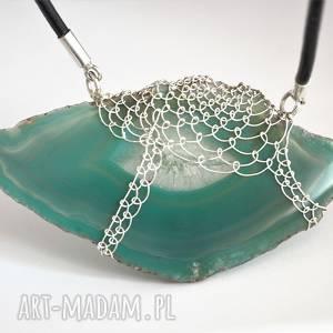 jachyra-jewellery koronkowy morski agat - kamień