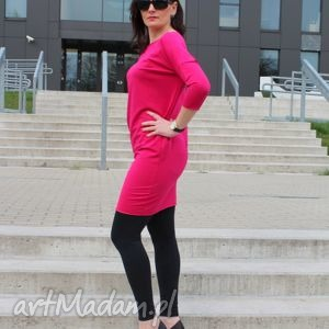 tunika bluzka dresowa oversize midi kolory, sukienka, tunika, dresowa, mini
