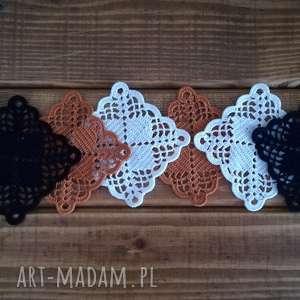 bawełniane podkładki 4, podkładki, styl, rękodzieło, prezent