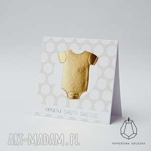 handmade kartki pamiątka chrztu świętego