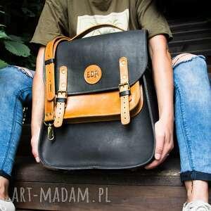 duży skórzany plecak idealny prezent dla niej, ręcznie wykonana torba na ramię