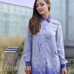unikalny, bluzki lilka cieniowana koszula, koszula