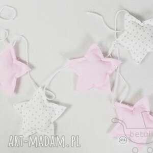 Girlanda gwiazdki Pastelowa róż kropki, girlanda, gwiazdki, pastelowa, pokój