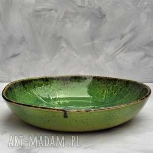 ręcznie zrobione ceramika duża misa liść
