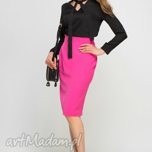 Bluzka z fontaziem, blu131 czarny bluzki lanti urban fashion