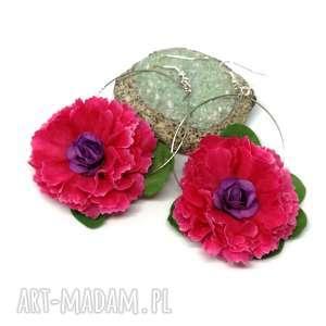 kolczyki kwiaty gerbery flamenco lekkie, kolczyki, etno, flamenco, boho