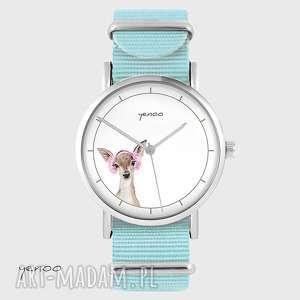 hand-made zegarki zegarek, bransoletka - sarenka niebieski, nato