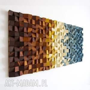 wood light factory mozaika drewniana, obraz drewniany 3d b01, loft, modern