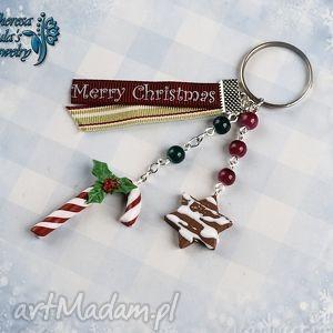 breloki świąteczny brelok cukierek pierniczek merry christmas