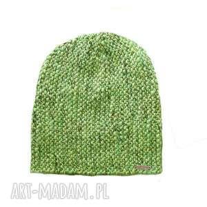 czapka 24 - czapka, melanż, dziergana, alpaka, unisex, beanie