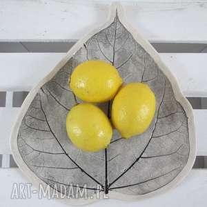 talerz liść, dekoracyjny, talerz, patera, ceramiczna, roślinna