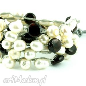 Snake Wrap: Perły hodowlane, perły, słodkowodne, nici, sznurek, rzemień