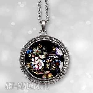 egzotyczny ogrÓd - piękny medalion na łańcuszku - medalion, wisior