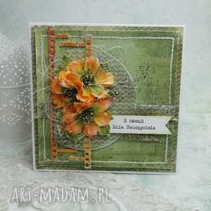 dla nauczyciela - kartka w pudełku - dzień nauczyciela, scrapbooking, dla