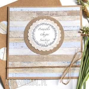 Pamiątka Chrztu Świętego :: kartka handmade, chrzciny, chrzest, eko