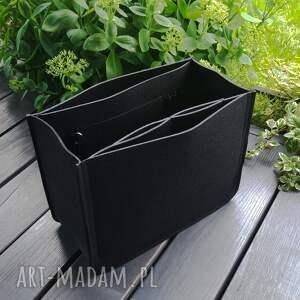 mega organizer - 3xl czarny, do torebki, filcowy, wkład