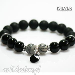 onyks, black stone, picasso, prezent, swarovski, isilver, autorska