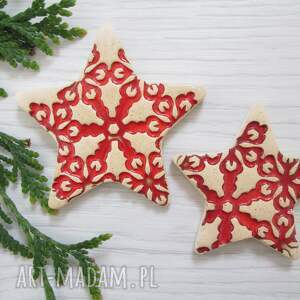 zestaw 2 magnesów gwiazdki, ozdoby świąteczne, bożonarodzeniowe, upominki