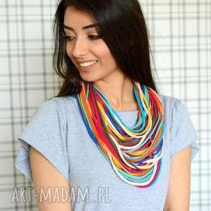 ręcznie wykonane naszyjniki naszyjnik bawełniany color light 8