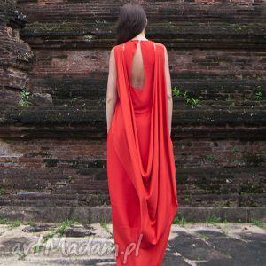 lakszmi - sukienka, suknia, czerwień, czerwona, czarna, długa, wieczorowa