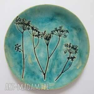 roślinny niebieski talerzyk, organiczny naturalne dodatki, dekoracje